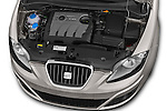 Car Stock 2014 Seat ALTEA XL I-TECH Special 5 Door Mini MPV 2WD Engine high angle detail view