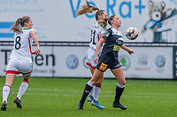 Daisy Baudewijns (30) of Eendracht Aalst pictured during a female soccer game between Eendracht Aalst and OHL on the 13 th matchday of the 2020 - 2021 season of Belgian Scooore Womens Super League , Saturday 6 th of February 2021  in Aalst , Belgium . PHOTO SPORTPIX.BE | SPP | STIJN AUDOOREN