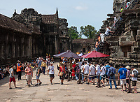 Tourists at Angkor Wat, Cambodia