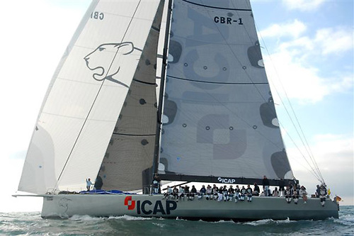 The largest keelboat to go round Ireland entirely under sail is Mike Slade's 100ft ICAP-Leopard