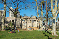 The Rodin Museum and garden park, Philadelphia, Pennsylvania, USA Houses largest collection of sculptor Auguste Rodin's works outside Paris.