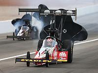 Mar 30, 2014; Las Vegas, NV, USA; NHRA top fuel driver Doug Kalitta during the Summitracing.com Nationals at The Strip at Las Vegas Motor Speedway. Mandatory Credit: Mark J. Rebilas-