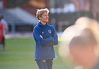 headcoach Vera Pauw of the Irish Republic pictured ahead of a friendly female soccer game between the national teams of Belgium , called the Red Flames and The Republic of Ireland , on sunday 11 th of April 2021  in Brussels , Belgium . PHOTO Dirk Vuylsteke | Sportpix.be | SPP