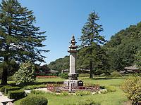 Pohyon-Tempel in den Myohyang-Bergen, Nordkorea, Asien<br /> Pohyon temple  in Myoohyang-Mountains, North Korea, Asia
