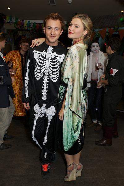 Francis Boulle and Amber Atherton at The Myflashtrash Halloween Party at Barrio, Soho, London