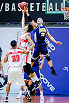 Kepkey Tyler Alexander #55 of Winling Basketball Club vies with Yip Yiu Pong #35 of Nam Ching Basketball Team during the Hong Kong Basketball League game between Nam Ching vs Winling at Southorn Stadium on May 11, 2018 in Hong Kong. Photo by Yu Chun Christopher Wong / Power Sport Images