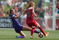 Boyds, MD - Saturday July 08, 2017: Dani Weatherholt, Tori Huster during a regular season National Women's Soccer League (NWSL) match between the Washington Spirit and the Orlando Pride at Maureen Hendricks Field, Maryland SoccerPlex.