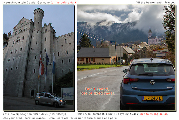 Driving in Europe. Arrive before Dark.<br />