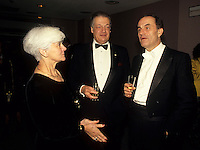 Montreal (Qc) Canada  file Photo - 1990 - ,Michel Belanger (M), his wife (L) and Charles Dutoit (R), conductor, , MSO :  Montreal Symphonic Orchestra