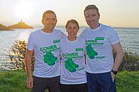 2019 09 14 Macmarathon participants at Bracelet Bay, near Swansea, Wales, UK.