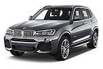 2015 BMW X3 M Sportpakket 5 Door Suv Angular Front stock photos of front three quarter view