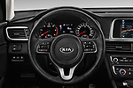 Car pictures of steering wheel view of a 2017 KIA Optima Sportswagon Sense 5 Door Wagon