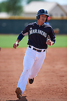 Seattle Mariners Rob Fonseca (21) during an instructional league game against the Texas Rangers on October 5, 2015 at the Surprise Stadium Training Complex in Surprise, Arizona.  (Mike Janes/Four Seam Images)