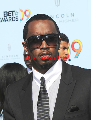"""Sean 'P.Diddy"""" Combsat the 2009 BET Awards at the Shrine Auditorium in Los Angeles on June 28th 2009..Photo by Chris Walter/Photofeatures"""