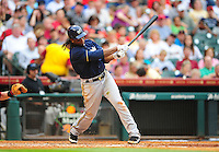 Apr. 30, 2011; Houston, TX, USA: Milwaukee Brewers second baseman Rickie Weeks against the Houston Astros at Minute Maid Park. Mandatory Credit: Mark J. Rebilas-