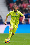 Sergio Mora Sanchez of Getafe CF in action during the La Liga 2017-18 match between Atletico de Madrid and Getafe CF at Wanda Metropolitano on January 06 2018 in Madrid, Spain. Photo by Diego Gonzalez / Power Sport Images