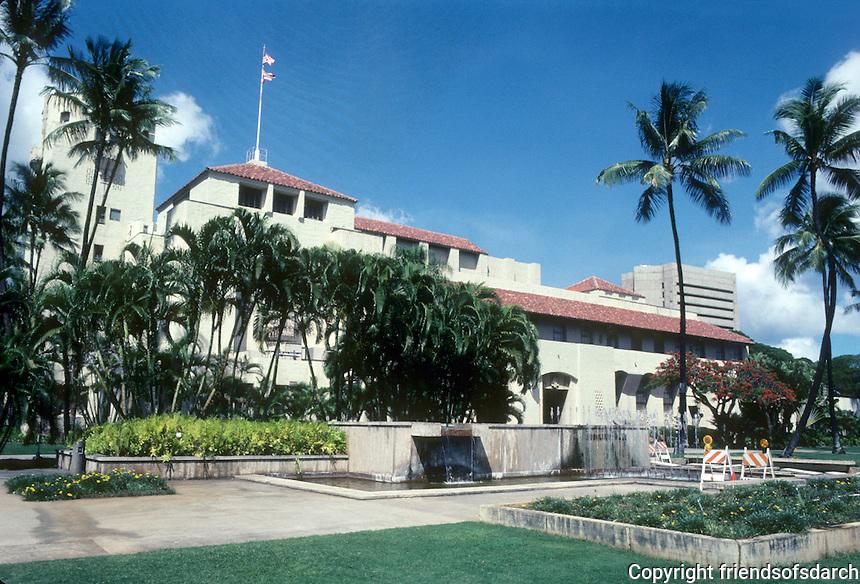 Honolulu: Honolulu Hale (City Hall) 1927. Miller, Dickey & Wood, Rothwell, Kangster, Lester. Photo '82.