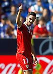 Sevilla FC's Pablo Sarabia celebrates goal during La Liga match. October 15,2016. (ALTERPHOTOS/Acero)