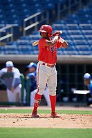 Philadelphia Phillies Edgar Made (24) at bat during an Instructional League game against the Toronto Blue Jays on September 17, 2019 at Spectrum Field in Clearwater, Florida.  (Mike Janes/Four Seam Images)