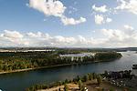 Aerial of Ross Island, Portland, Oregon