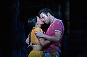 London, UK. 13.06.2014. Penny Woolcock's THE PEARL FISHERS returns to ENO, at the London Coliseum, as a co-production with the Metropolitan Opera, New York. Picture shows: Sophie Bevan (Leila) and John Tessier (Nadir). Photograph © Jane Hobson.