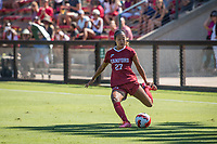 STANFORD, CA - SEPTEMBER 12: Kellie Pagador during a game between Loyola Marymount University and Stanford University at Cagan Stadium on September 12, 2021 in Stanford, California.