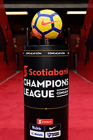 Harrison, NJ - Tuesday April 10, 2018: Champions League ball pedestal.  prior to leg two of a  CONCACAF Champions League semi-final match between the New York Red Bulls and C. D. Guadalajara at Red Bull Arena. C. D. Guadalajara defeated the New York Red Bulls 0-0 (1-0 on aggregate).