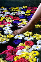 A BATH WITH FLOWERS MANDARA SPA, PALAU, MICRONESIA