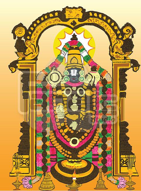Hindu god Tirupati Balaji