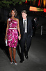 David Bowie and wife Iman in Carolyne Roehm vintage dress..arriving at The Vanity FairParty  to open The 2008 Tribeca Film Festival on April 22, 2008 at The State Supreme Court House in New York City. ....Robin Platzer, Twin Images