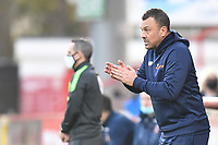 Concord Rangers FC Manager Danny Scopes during Stevenage vs Concord Rangers , Emirates FA Cup Football at the Lamex Stadium on 7th November 2020