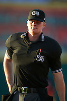 Umpire Thomas Roche during a game between the Peoria Chiefs and Lansing Lugnuts on June 6, 2015 at Cooley Law School Stadium in Lansing, Michigan.  Lansing defeated Peoria 6-2.  (Mike Janes/Four Seam Images)