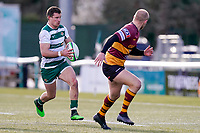 Luke DANIELS (15) of Ealing Trailfinders during the Greene King IPA Championship match between Ealing Trailfinders and Ampthill RUFC being played behind closed doors due to the COVID-19 pandemic restrictions at Castle Bar , West Ealing , England  on 13 March 2021. Photo by David Horn.