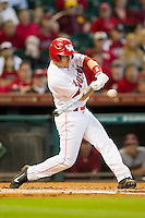 Landon Appling #1 of the Houston Cougars takes his swings against the Arkansas Razorbacks at Minute Maid Park on March 3, 2012 in Houston, Texas.  The Cougars defeated the Razorbacks 4-1.  Brian Westerholt / Four Seam Images