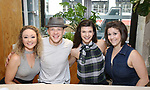 Devon Hadsell, Kevin Csolak, Collins Conley, and Stephanie Lynn Bissonnette attend the 'Mean Girls' Original Broadway Cast Linyl Release at the Herald Square Urban Outfitters' on August 28, 2018 in New York City.