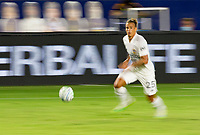 CARSON, CA - SEPTEMBER 06: Rolf Feltscher #25  of the Los Angeles Galaxy moves with the ball during a game between Los Angeles FC and Los Angeles Galaxy at Dignity Health Sports Park on September 06, 2020 in Carson, California.