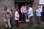 Goathland Plough Stots, Goathland, Yorkshire Uk. January 1980s UK