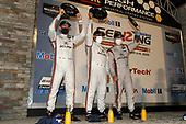 #6 Acura Team Penske Acura DPi, DPi: Juan Pablo Montoya, Dane Cameron, Simon Pagenaud celebrate on the podium