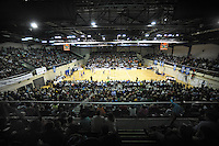 A general view of the national basketball league match between Wellington Saints and Southland Sharks at the TSB Bank Arena, Wellington, New Zealand on Friday, 5 July 2013. Photo: Dave Lintott / lintottphoto.co.nz