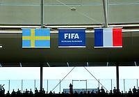 Fifa Women's World Cup Germany 2011 : Zweden - France Frankrijk at Sinsheim World Cup stadium : vlaggen in het stadion.foto DAVID CATRY / Vrouwenteam.be