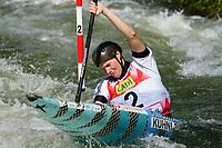 4th September 2021; Parc Olimpic del Segre, La Seu D'Urgellm ICF Slalom World Cup, Women's Kayak Final;  Corinna Kuhnle (AUT)