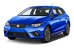 2022 Seat Ibiza Move!-+ 5 Door Hatchback Angular Front automotive stock photos of front three quarter view