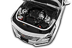 Car Stock 2017 Cadillac CT6 RWD 4 Door Sedan Engine  high angle detail view
