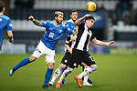 St Mirren v St Johnstone…26.12.18…   St Mirren Park    SPFL<br />Adam Hammill is fouled by Richard Foster<br />Picture by Graeme Hart. <br />Copyright Perthshire Picture Agency<br />Tel: 01738 623350  Mobile: 07990 594431