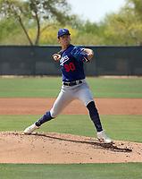 Bobby Miller - Los Angeles Dodgers 2021 spring training (Bill Mitchell)
