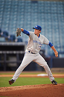 Dunedin Blue Jays starting pitcher Ryan Borucki (12) during a game against the Tampa Yankees on April 19, 2016 at George M. Steinbrenner Field in Tampa, Florida.  Tampa defeated Dunedin 12-7.  (Mike Janes/Four Seam Images)