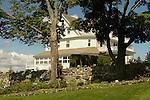 Blair Hill Inn, Lily Bay Road, Greenville, ME. View of Inn from garden side.