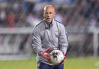 HOUSTON, TX - JANUARY 31: Philip Poole of the United States warms up the keepers during a game between Panama and USWNT at BBVA Stadium on January 31, 2020 in Houston, Texas.