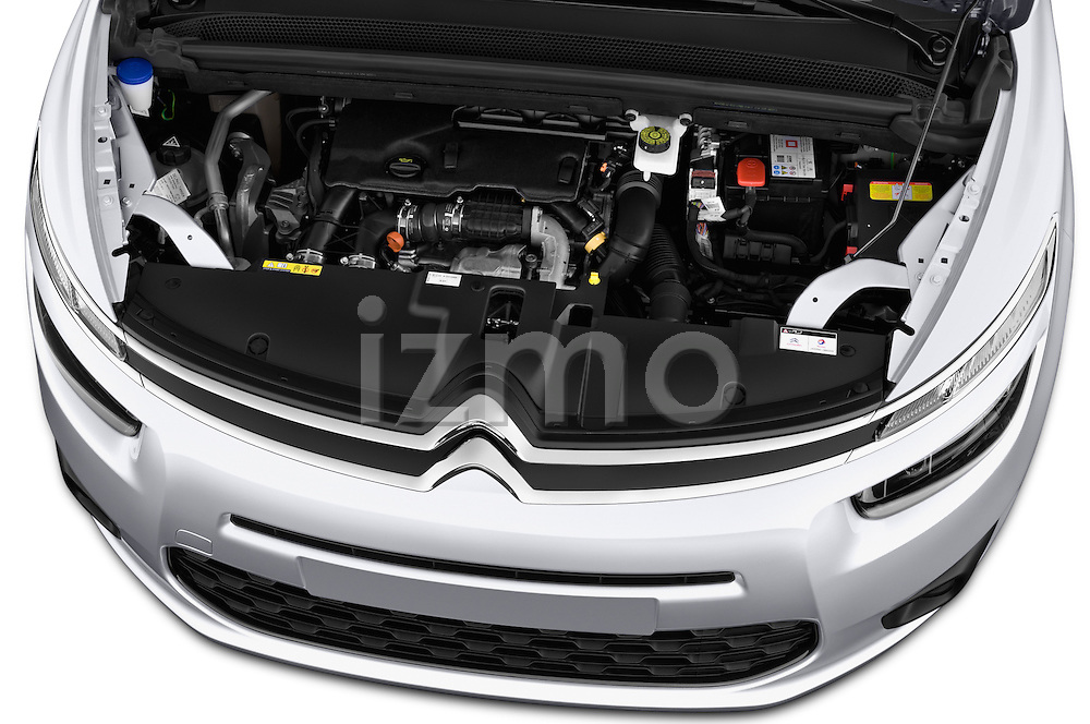 High angle engine detail of a 2013 Citroen GRAND C4 PICASSO Intensive 5 Door Minivan 2WD