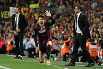 Barcelona´s Pique during 2014-15 Copa del Rey final match between Barcelona and Athletic de Bilbao at Camp Nou stadium in Barcelona, Spain. May 30, 2015. (ALTERPHOTOS/Victor Blanco)